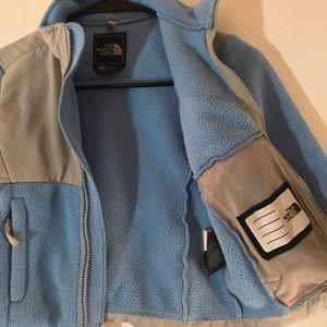 The North Face Jackets & Coats - The North Face Blue Grey Fleece Jacket Girls XXS